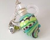 Unique Blown Glass Keepsake Fairy Vessel art - HorkoverGlass