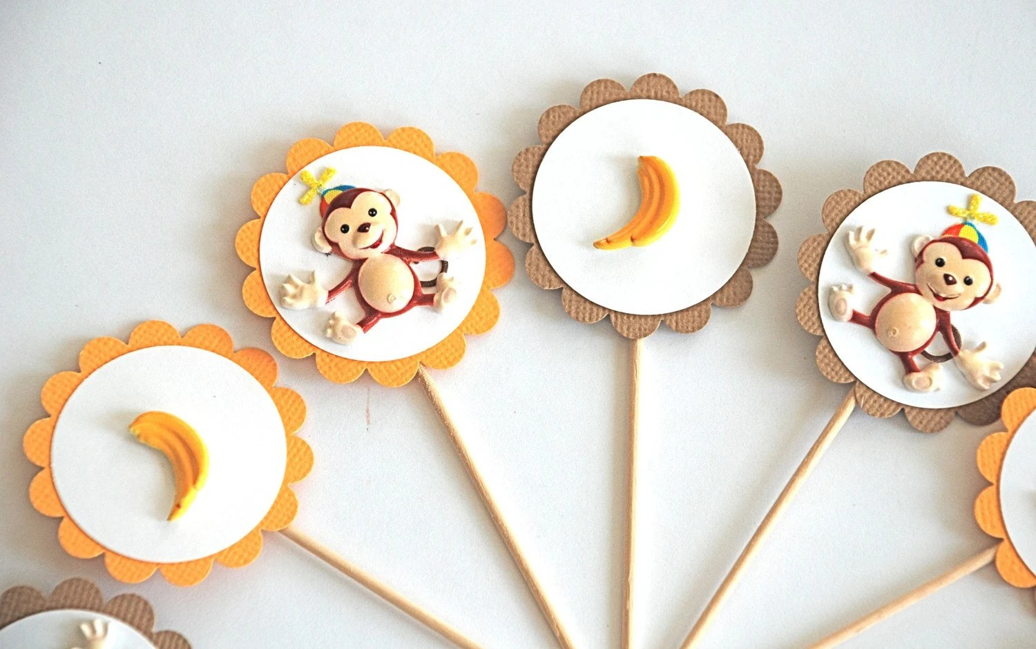Silly Monkey Cupcake Toppers