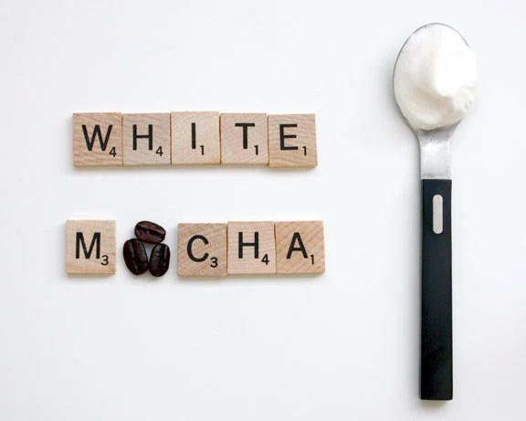 Kitchen Coffee Photography Brown :  Espresso White Mocha Latte Scrabble Tile Quote 8x10 inch - blueorder