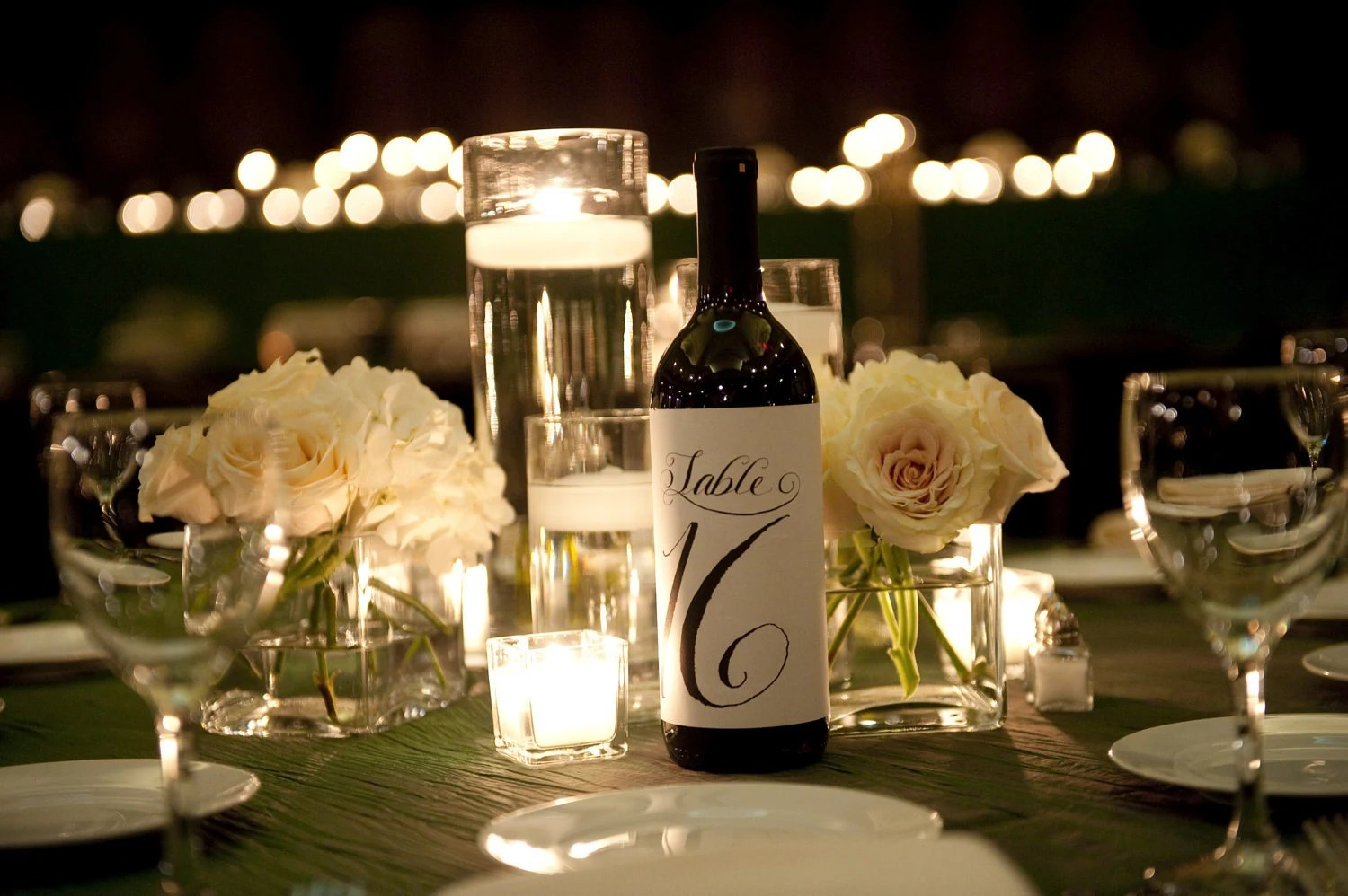 10 Table Numbers For Wine Bottles Wedding Calligraphy