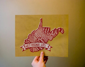 West Virginia State Bird- Northern Cardinal 8 x 10 Print - kelzuki