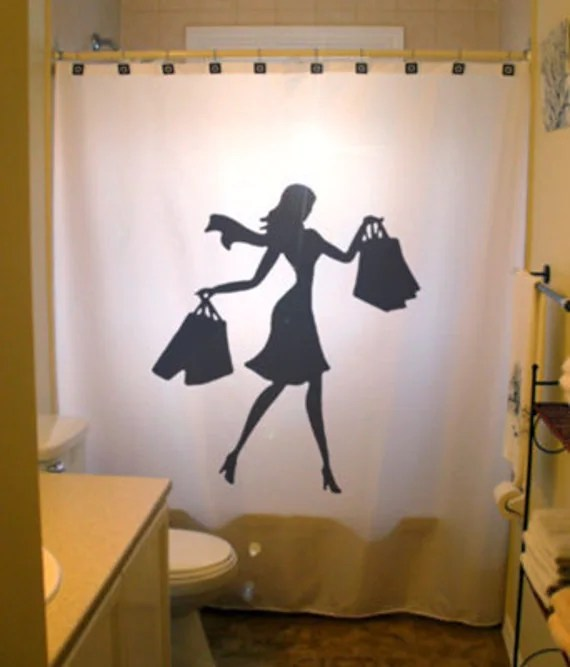 Shopping Queen Shower Curtain Fashion Girl Bathroom Bath Decor