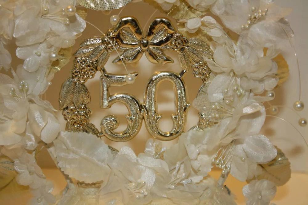 Vintage Wilton 50th Anniversary Cake Topper