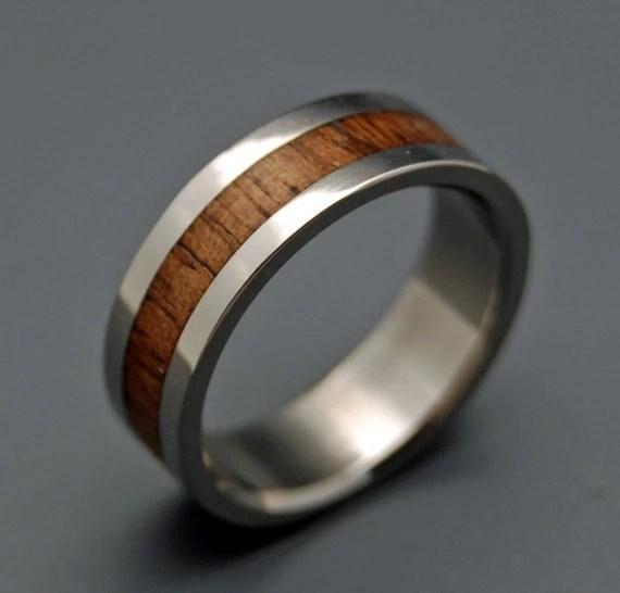 Wooden Wedding Rings Wood Rings Titanium Wedding Rings