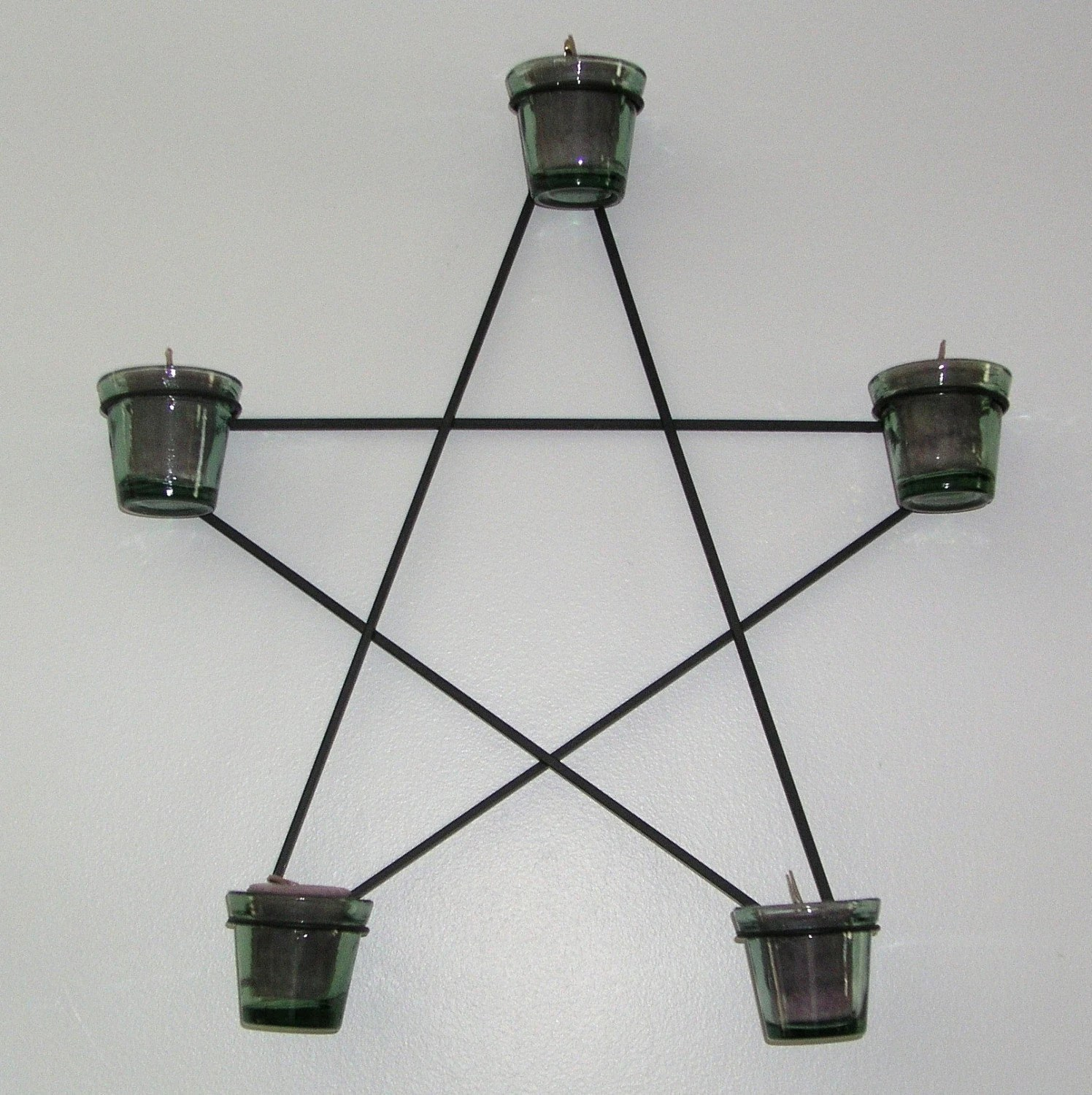 Black Wrought Iron Wall Mounted Candle Holder Star on Wall Mounted Candle Holder id=54004