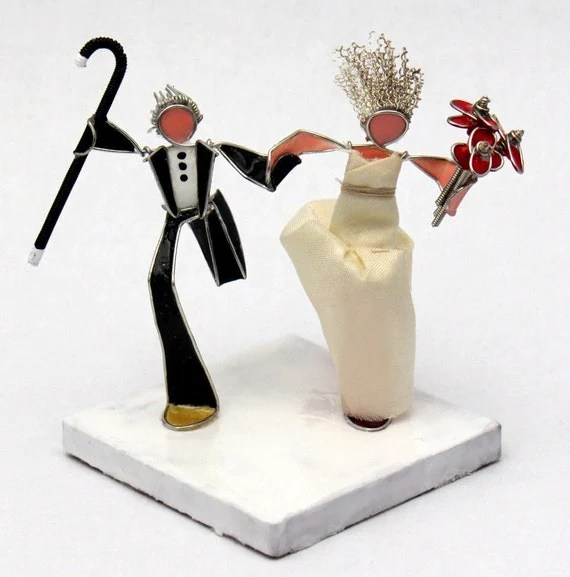 The Running Bride and Groom- Custom Wedding Cake Topper
