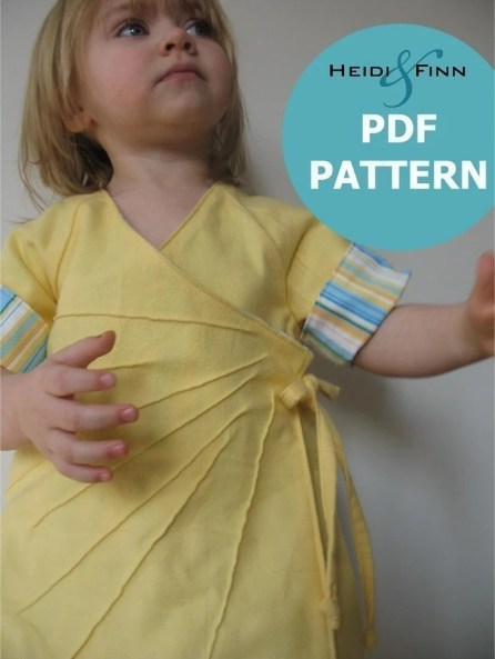 Sweet Sunshine Dress pattern and tutorial 12m-6t PDF Reversible kimono