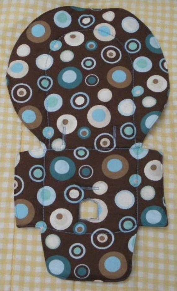 Evenflo High Chair Pad Cover Blue Party Dots