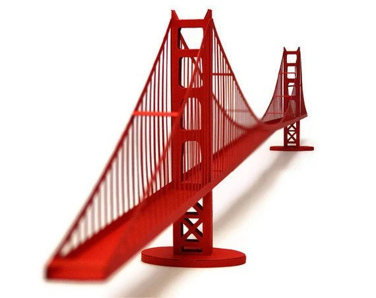 Golden Gate Bridge Paper Model (ASSEMBLED)