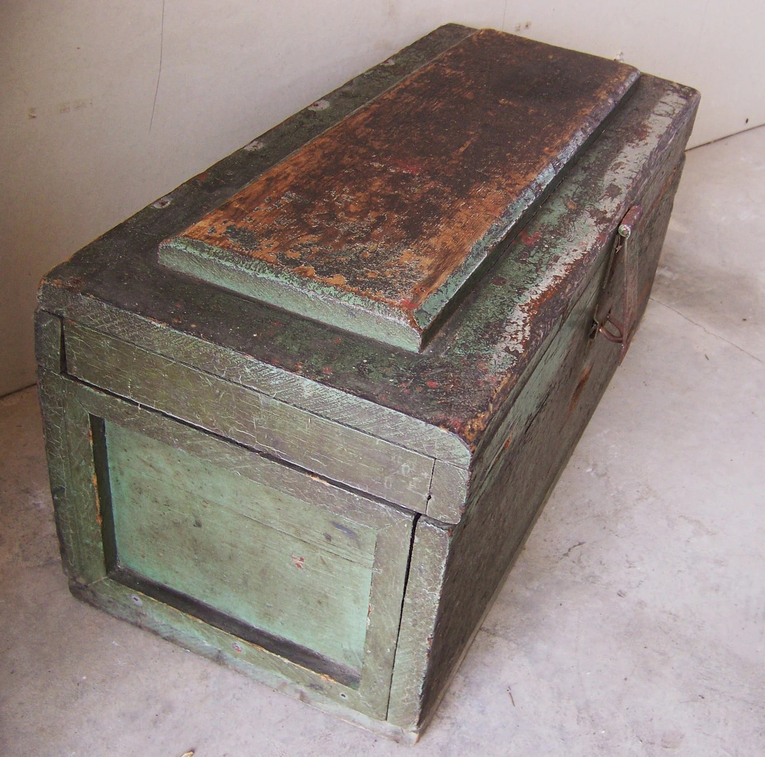 Items Similar To Antique Shabby Wood Tool Box With