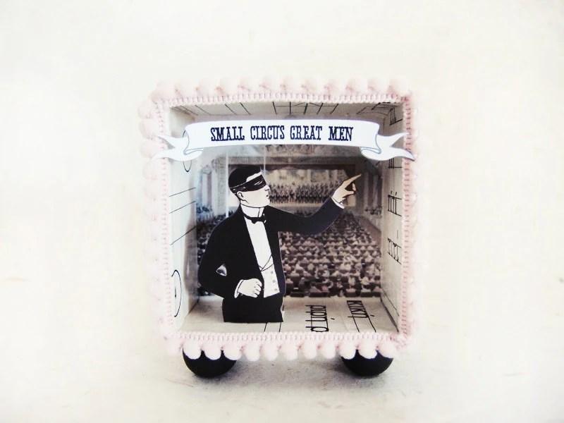 Diorama shadow box -Small Circus Great Men ARCHIBALD- - ILaBoom