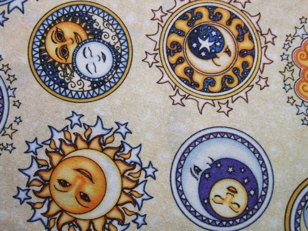 RJR Sew Heavenly Cream Celestial Sun Moon Stars Fabric Yard