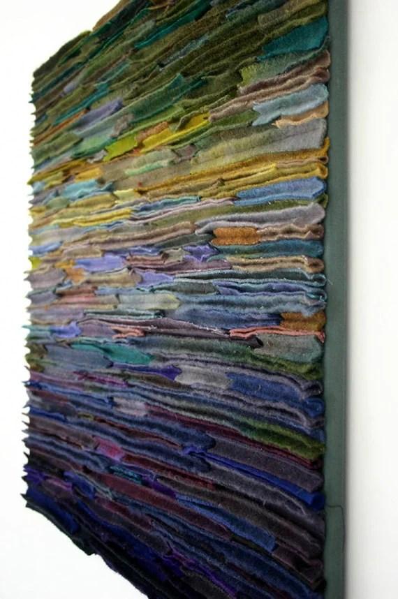 Items Similar To Wool Fiber Art Wallhanging Along The