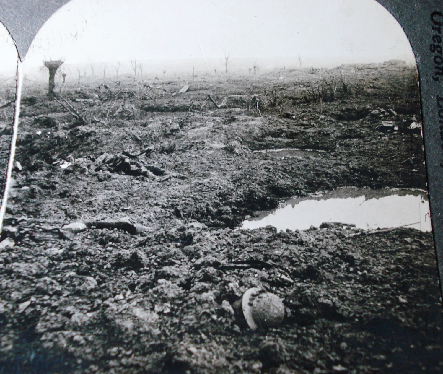 Ww1 Real Photo Slide No Mans Land In France War