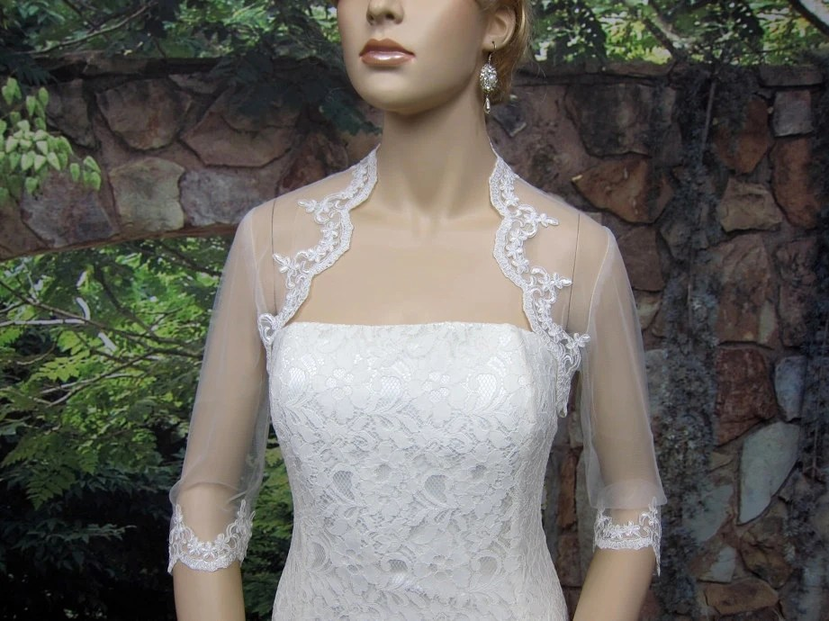 Wedding Bolero Lace Bolero Bridal Bolero Jacket Ivory