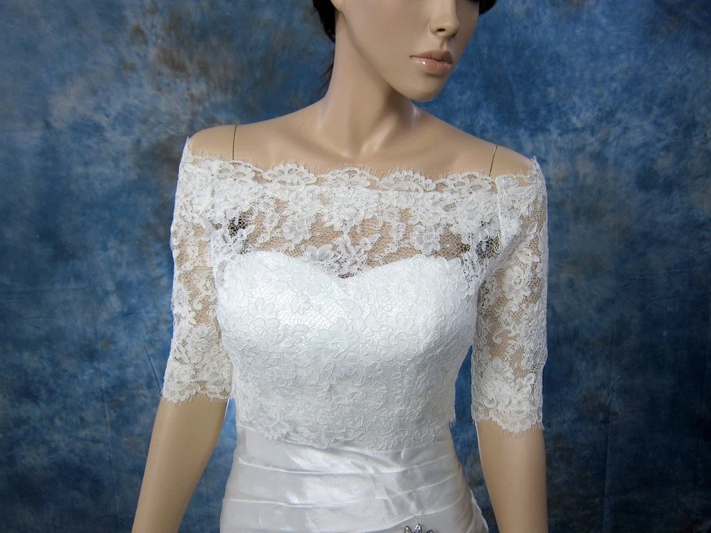 Bridal Bolero Off-Shoulder Lace Bolero Wedding Bolero
