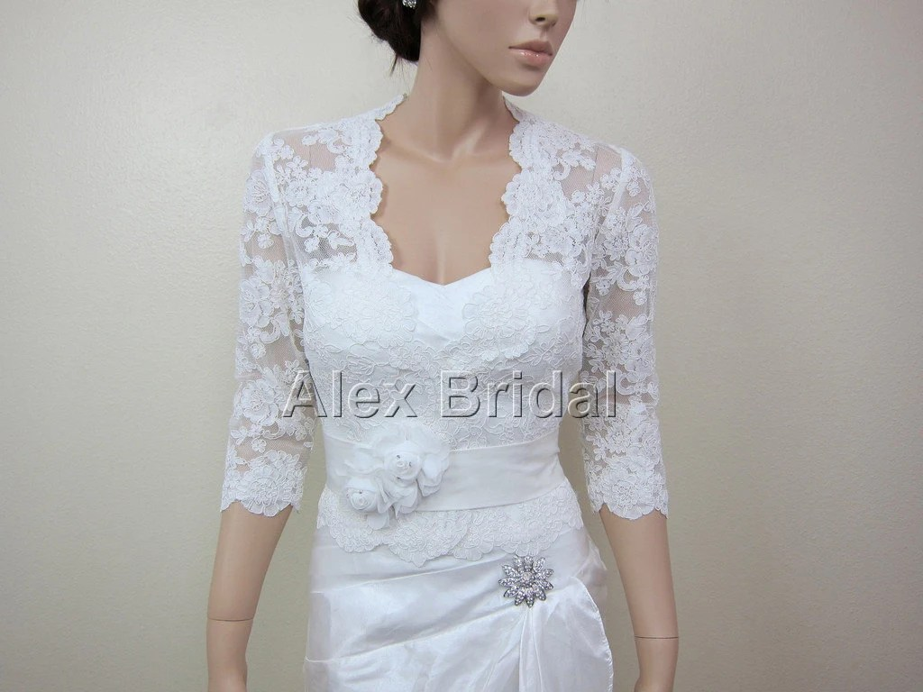 Ivory Lace Jacket Bridal Bolero Wedding Jacket Wedding Bolero