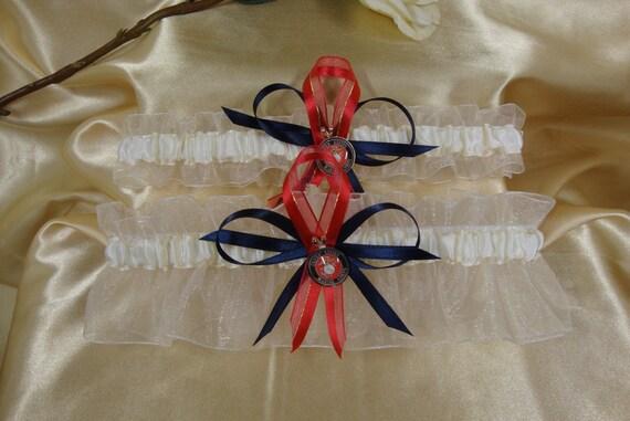 Ivory Wedding Garter Set With U.S. Marine Corps By StarBridal
