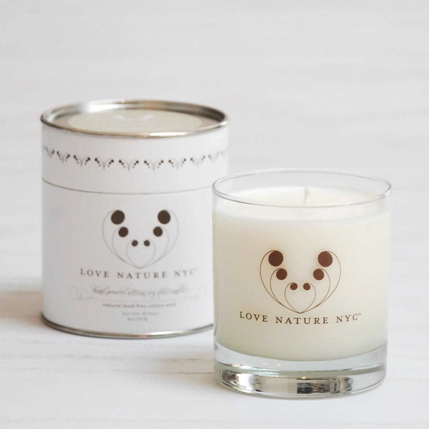 White Gardenia & Lily Soy Candle - LoveNatureNYC