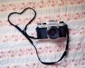 Camera Photograph, Still Life Photography, Pentax, Heart, Vintage Tones, Whimsical Print, Fine Art Photograph - birdandbloke