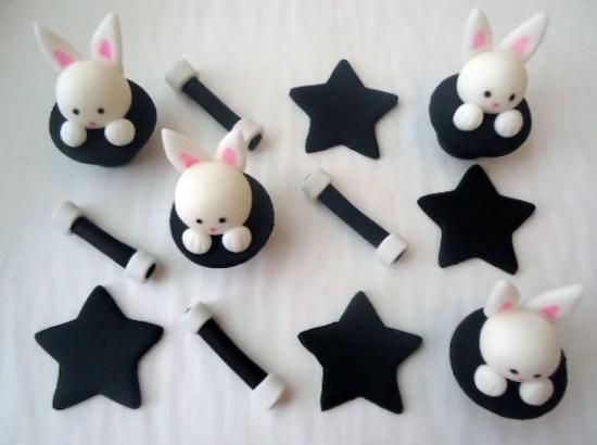 Fondant Cupcake Toppers - Magic Show