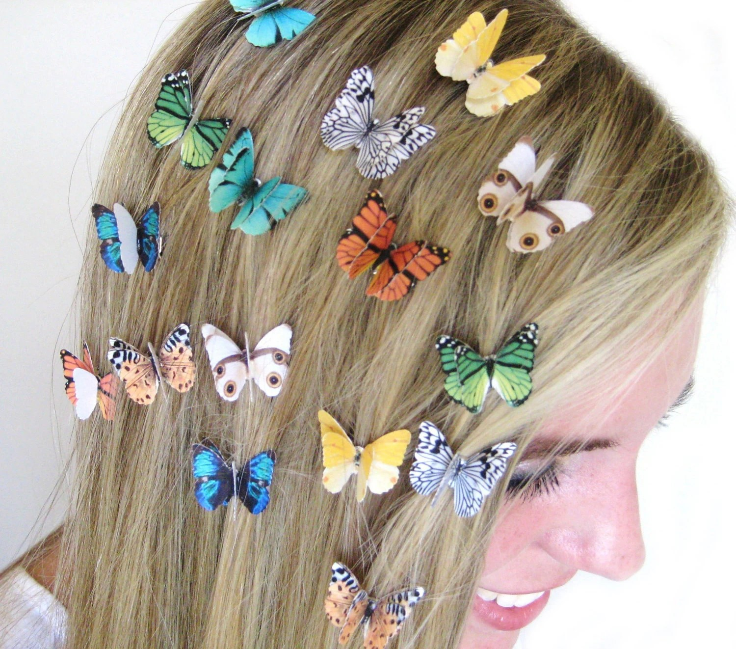 Set Of 3 Butterfly Hair Clips Hair Accessories For Women