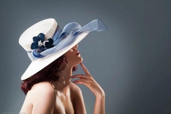Wide Brim Hat- Ava Gardener - MaggieMowbrayHats