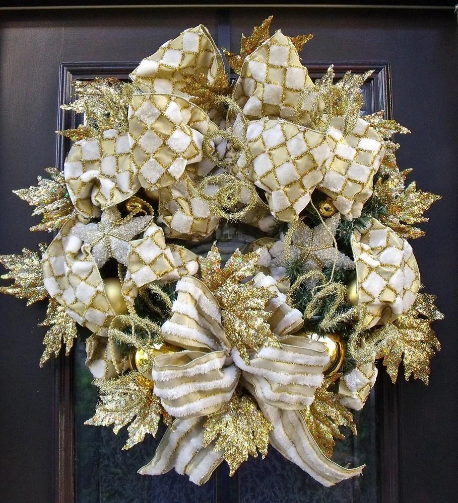 Christmas Wreath Door Holiday Designer Elegant Door Wreath