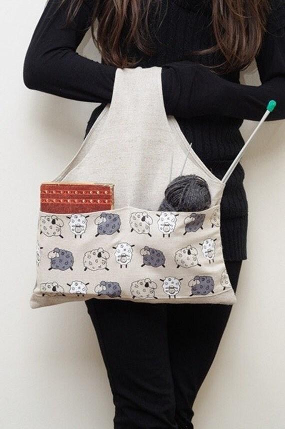 Knitter Project Bag SHEEPS... Special KnitterBag design.