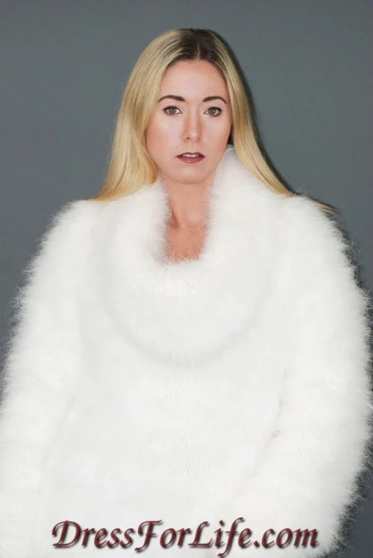 Custom Made to Order Pure Rabbit Angora Sweater Dress - dressforlife