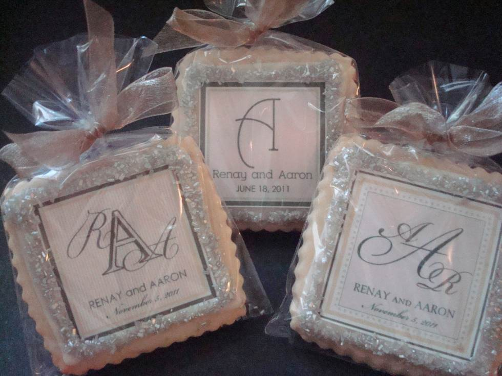 Wedding Favors Shortbread Custom Cookies