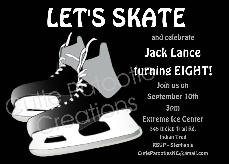 Boys Ice Hockey Birthday Invitation Printable Invite