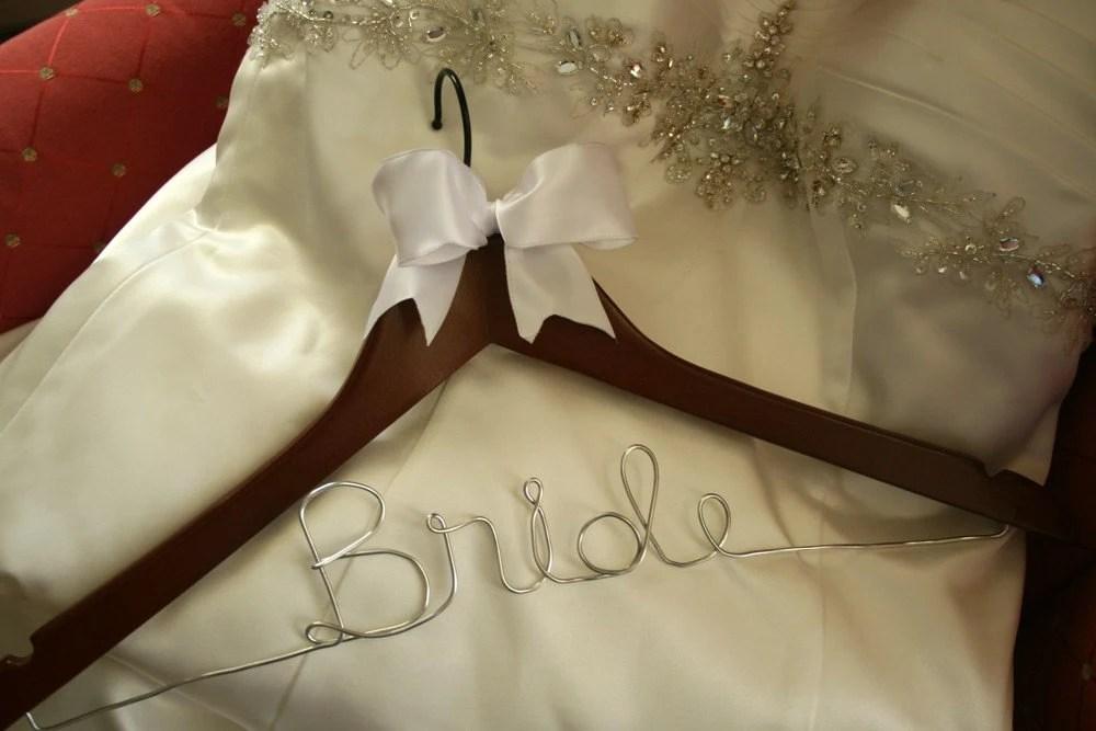 Wedding Hanger Wedding Dress Hanger Personalized Bridal