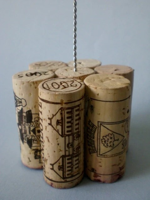 Tall Wine Cork Table Number Holder Photo by ...