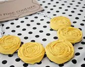 rosette necklace in mustard yellow great for bridesmaids,wedding parties ect - cocorosecouture