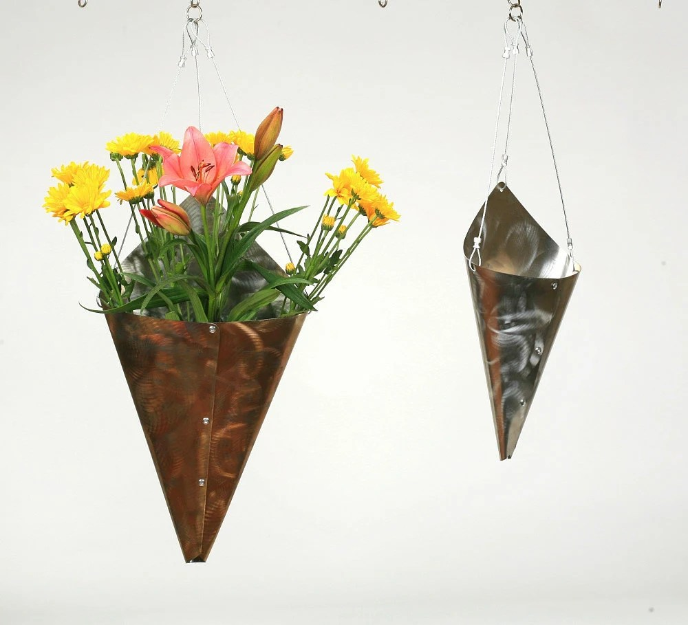 Stainless Steel Large Wrap Vase -Eco friendly decorations for your home or garden. - hammeritout