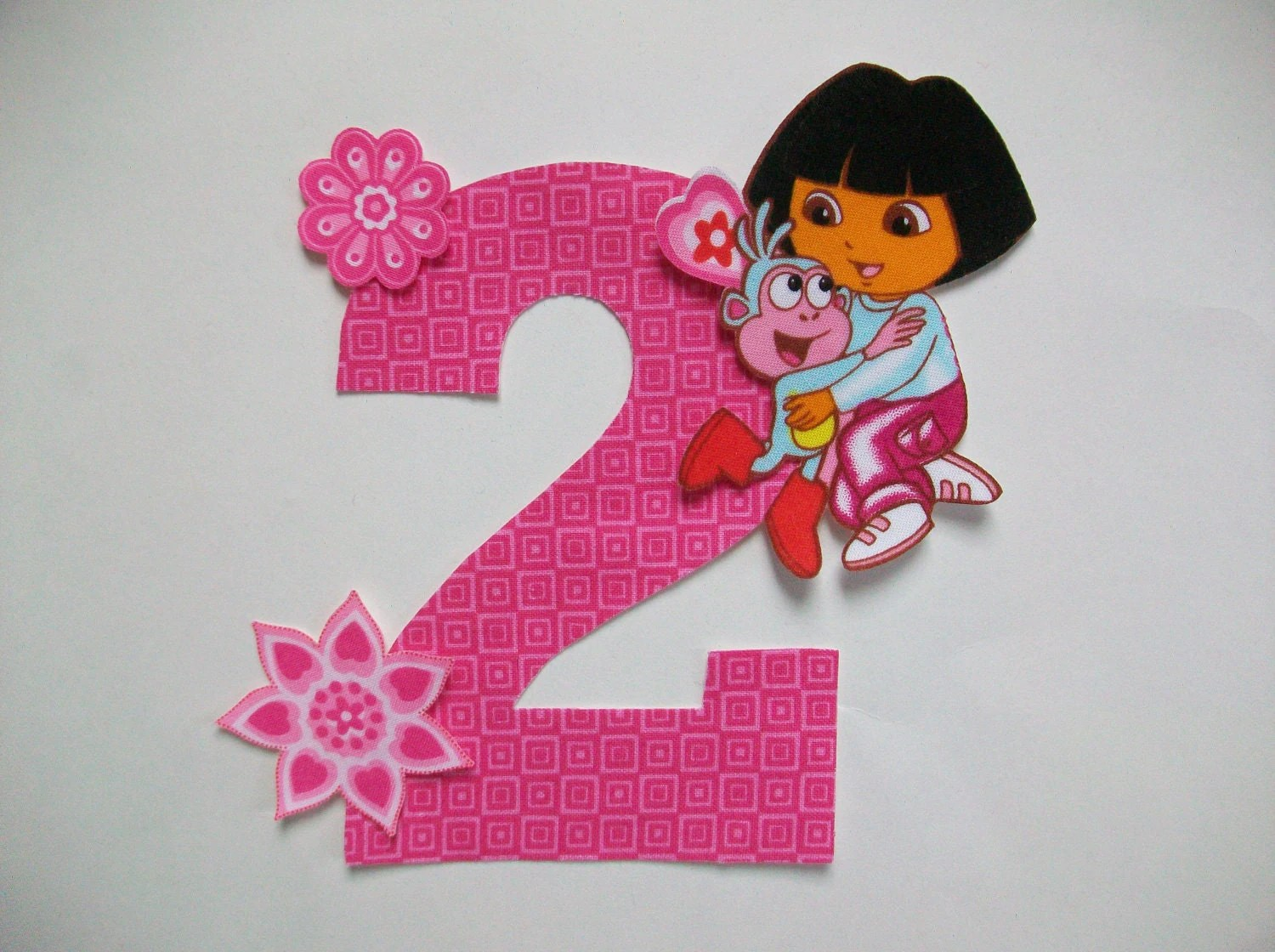 Diy No Sew Dora The Explorer Applique And Number Iron On