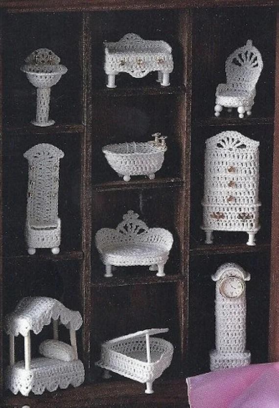 Crochet Miniature Victorian Doll House Furniture Ornament