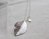 Modern Leaf  Necklace - S2035-1