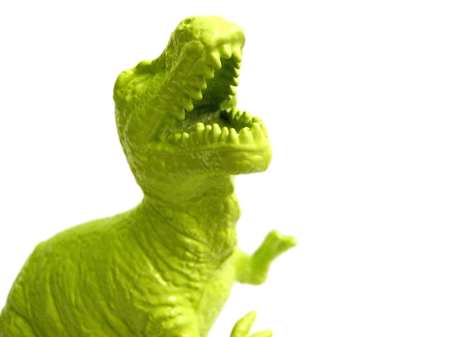 Lime Green T-Rex, //PRICE REDUCED// Upcycled Repurposed Dinosaur Toy, Dinosaur Decor - bellonart