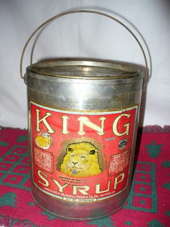 Image result for photo of tin of King Syrup
