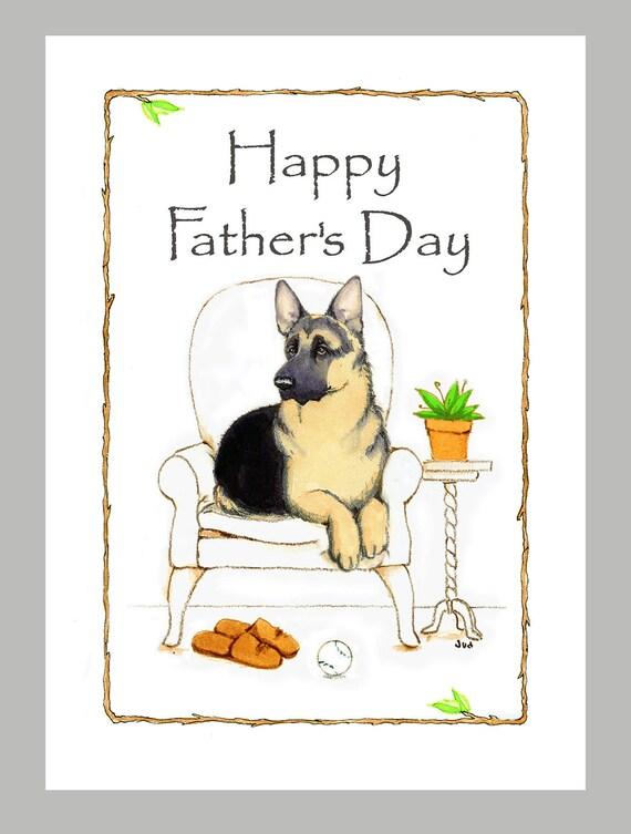 German Shepherd Dog Fathers Day Card
