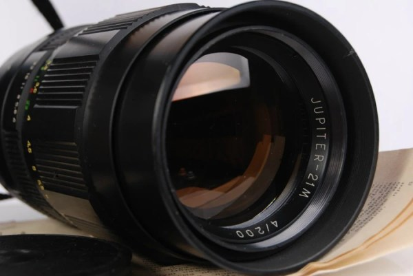 Jupiter 21M 4 / 200mm M42 Telephoto Sport Lens in CASE with