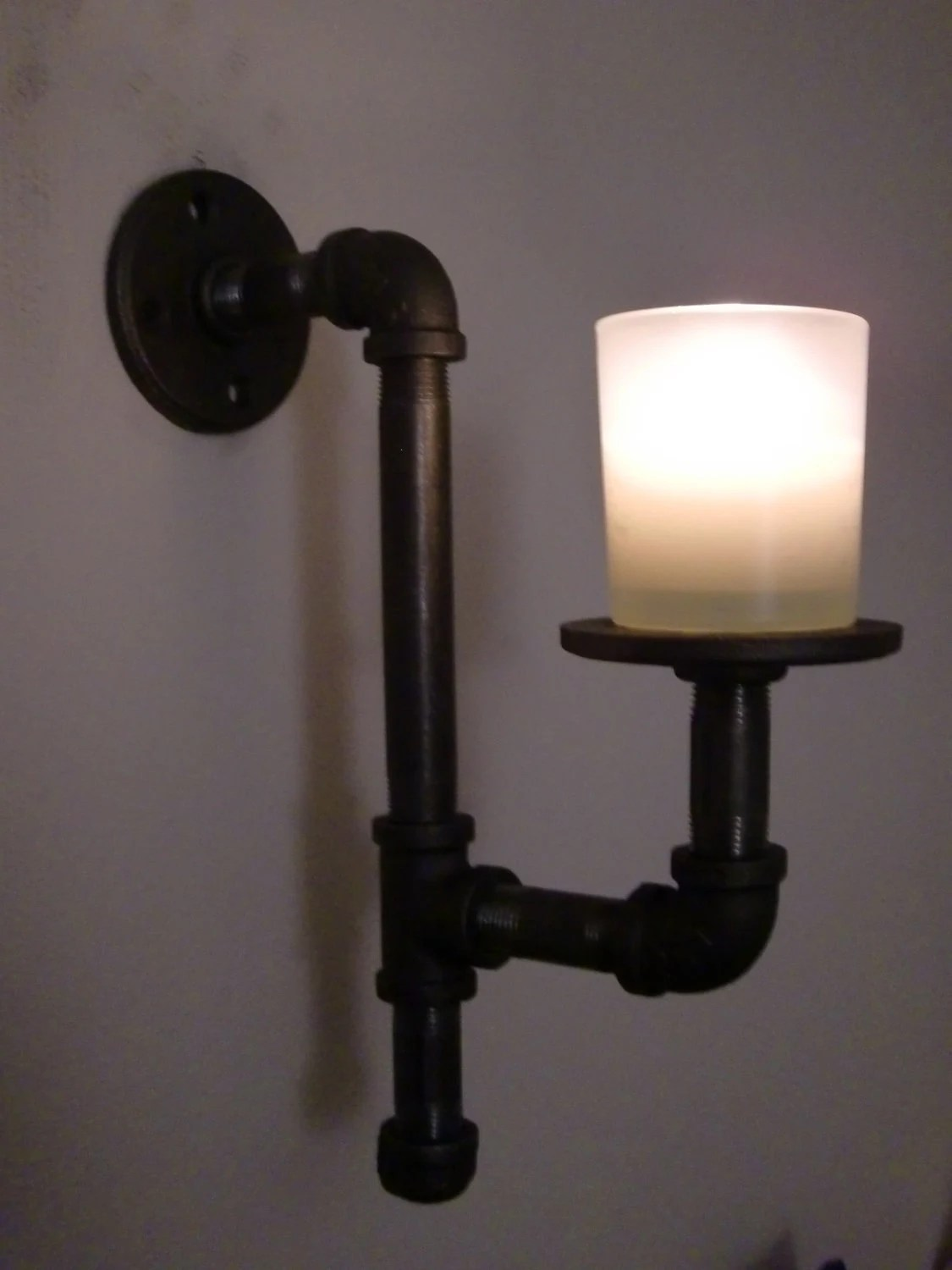 Items Similar To Pair Of Handmade Industrial Style Candle