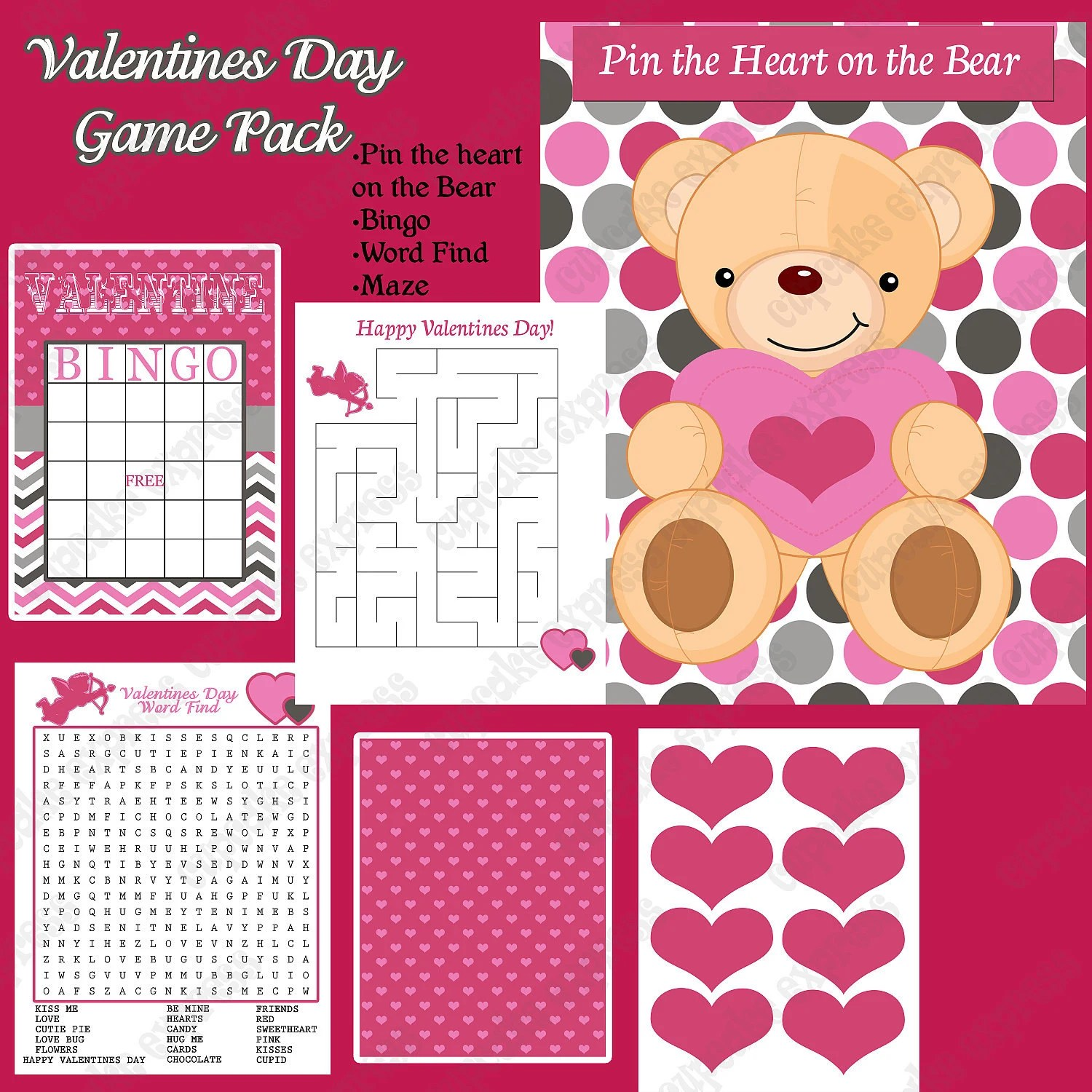 Sale Sale 50 Off Diy Mod Valentines Day Party Printable
