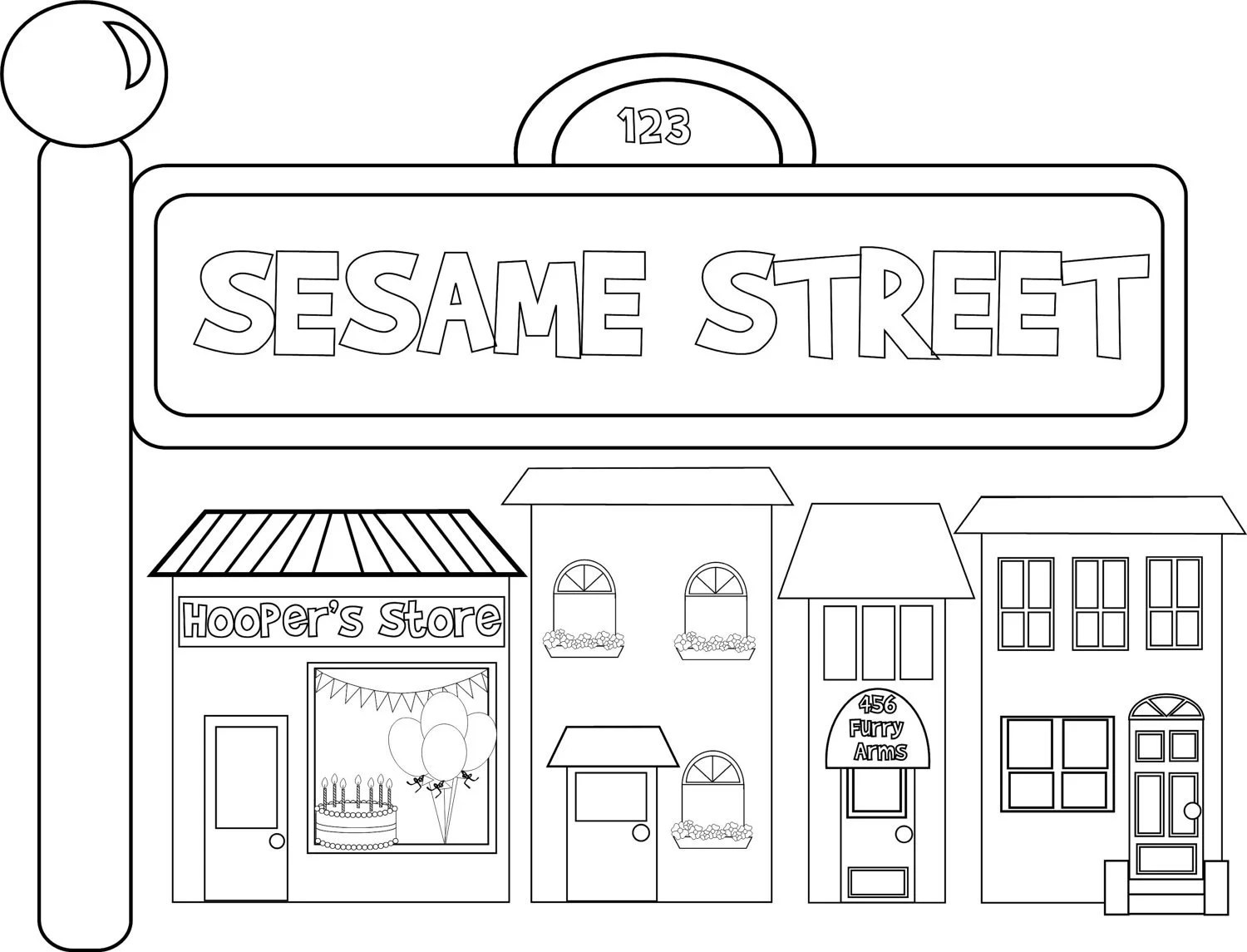 Sesame Street Inspired Custom Coloring Sheet