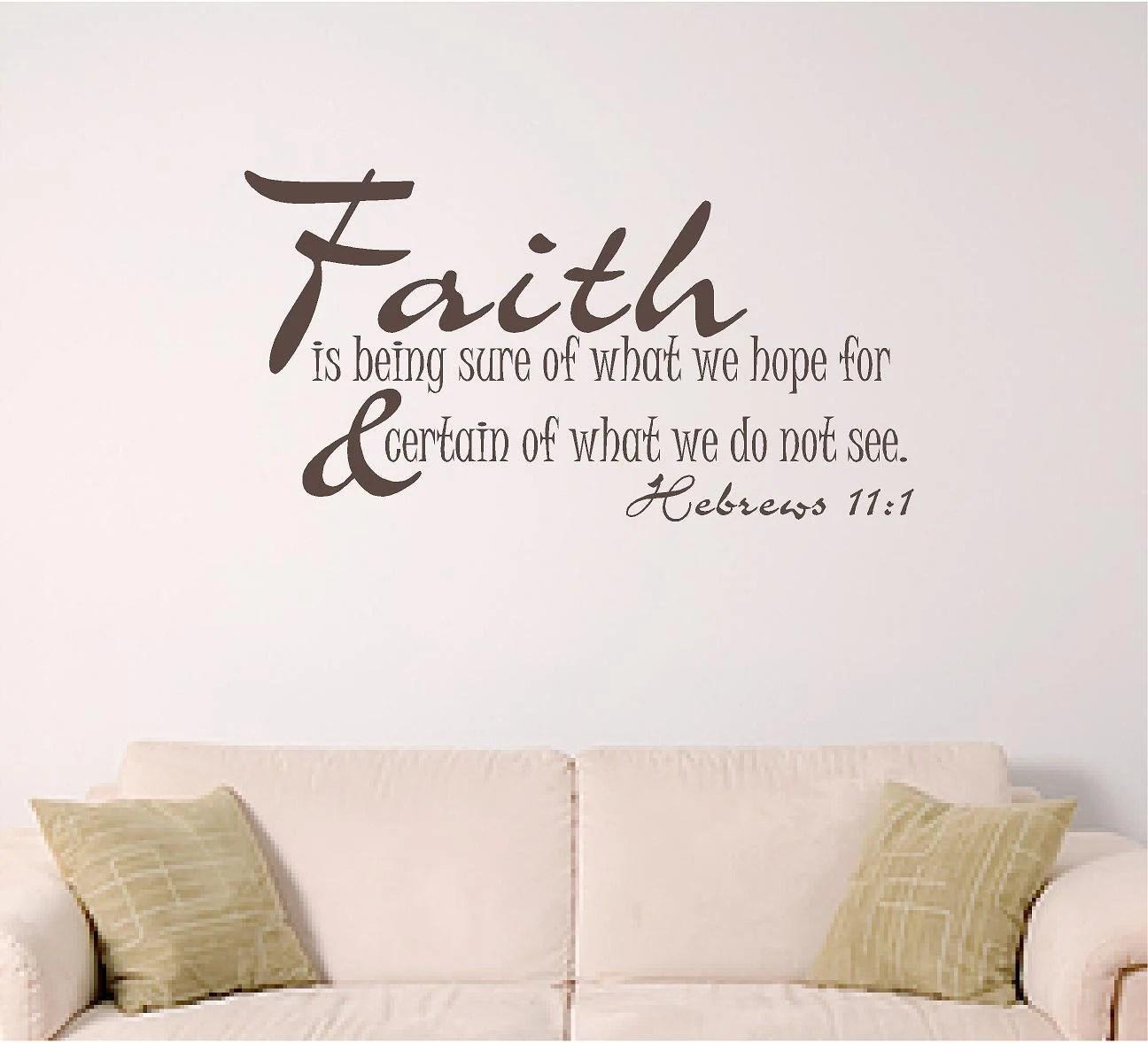 Bible Verse Wall Decal Faith Home Wall Decal