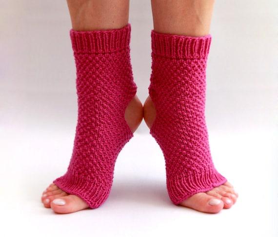 hand knit toe less / pedicure / yoga socks