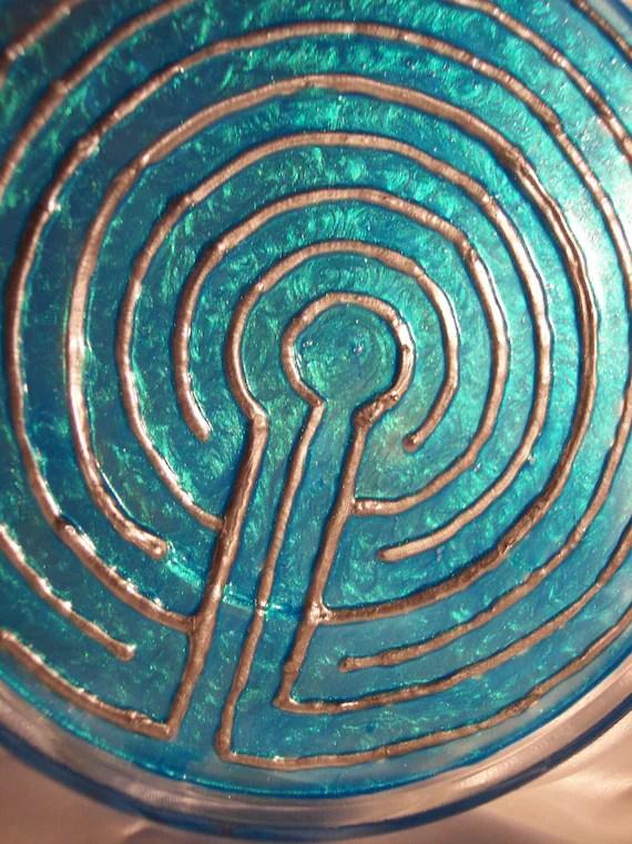 Meditation Finger Labyrinth Classic 7 Circuit Circular