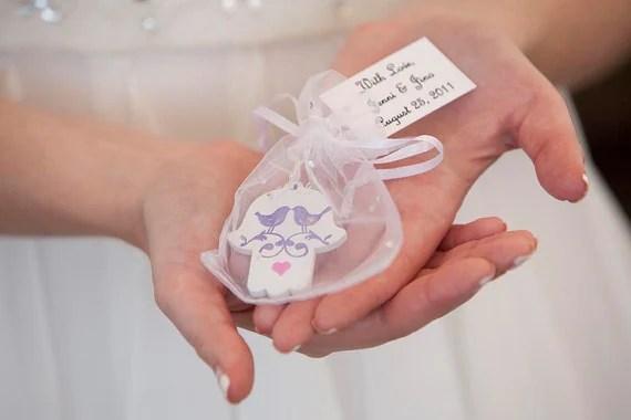 Items Similar To Hamsa Wedding Favors, Personalized Hamsa